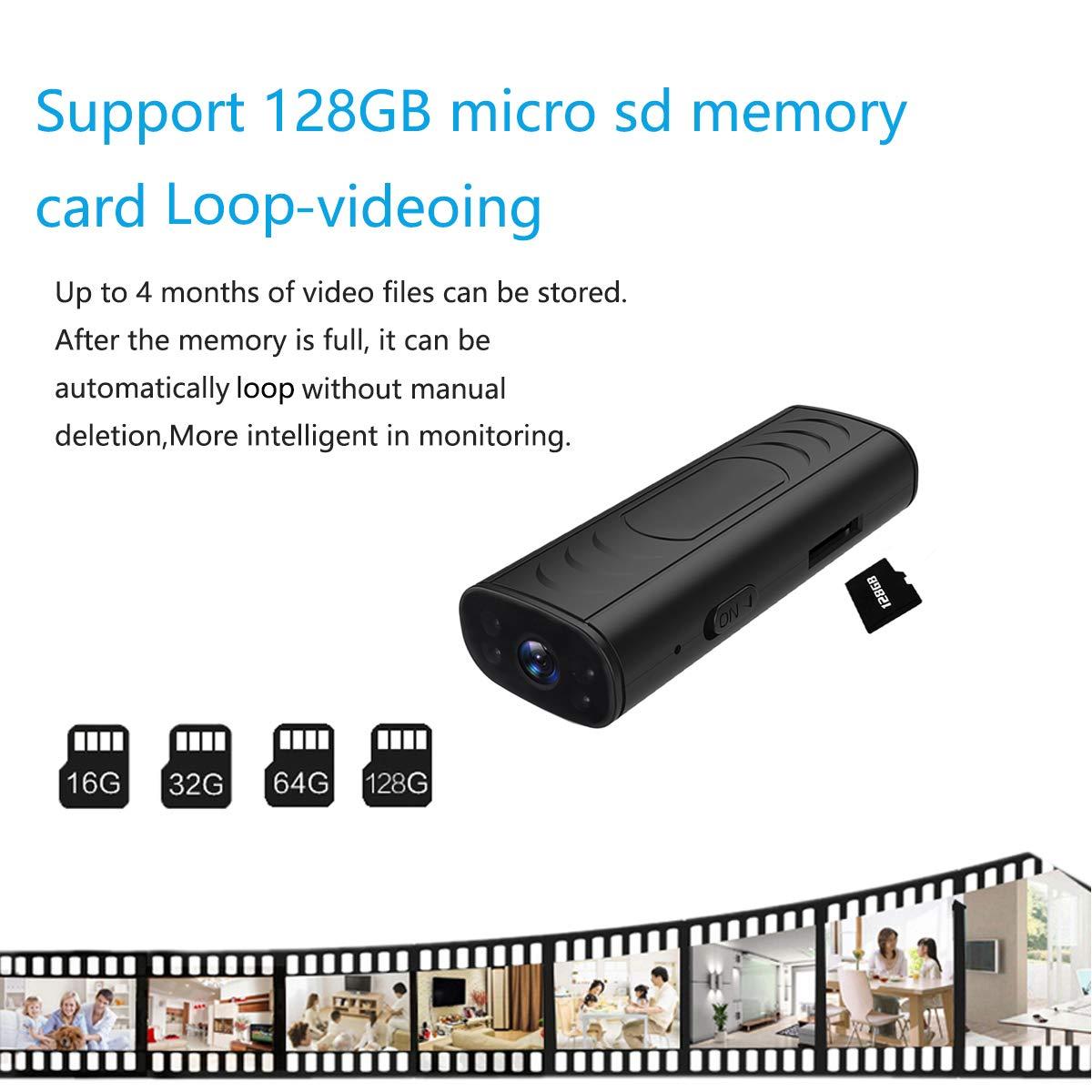 Cam/éra Espion Cach/ée Cam Mini IP WiFi HD1080P Vision Nocturne D/étection de Mouvement Cam/éra de Surveillance de S/écurit/é pour iPhone// Android// Support Maximum Carte de 128G Pas Incluse