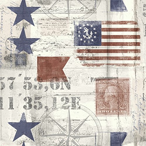 (AOFOTO 6x6ft Vintage Postcard Background Abstract Compass Old Stars And Stripes Photography Backdrop Navigation Sail Kid Adult Portrait Grunge Retro Marine Style Photo Studio Props Wallpaper)