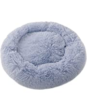 Aslion Pet Dog Cat Calming Bed Round Nest Warm Soft Plush Comfortable for Sleeping Winter