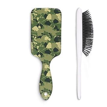 Amazon Unisex Detangle Hair Brush Army Military Leafy Camo