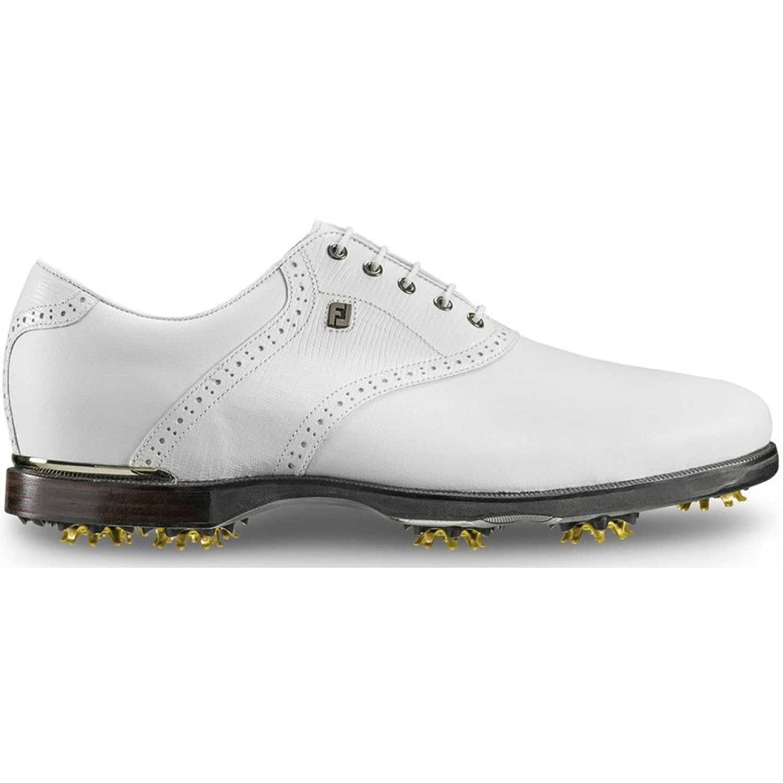 (フットジョイ) FootJoy メンズ ゴルフ シューズ靴 Icon Black Saddle Golf Shoes [並行輸入品] B079SVP4SN Wide/4E
