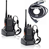 2 PCS Baofeng BF-888S Walkie Talkie with Earphone and Program cable