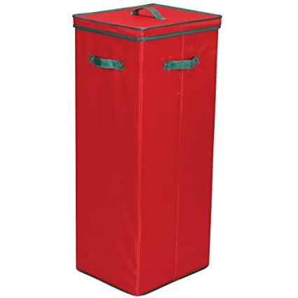 Household Essentials 580RED Wrapping Paper Storage Container | Holds Up To  20 Rolls Of Christmas Wrappings