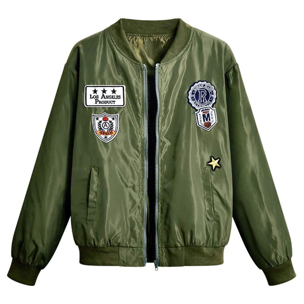 Yanvan Women Winter Warm Jacket Fashion Casual Print Long Sleeve Individual Jacket Coat by Yanvan