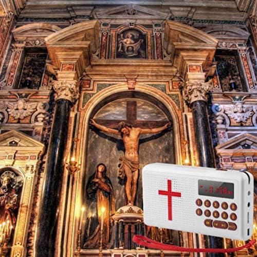 SUQIAOQIAO Portable Bible Player,Universal High-end Rechargeable Audio Player Electronic Bible Talking King James Version Bible Audio Player
