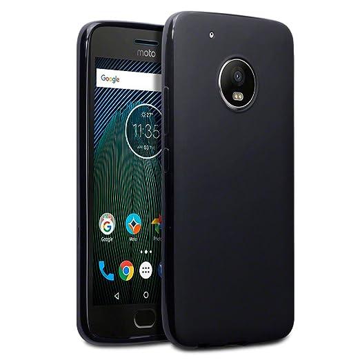 2 opinioni per Terrapin TPU Gel Custodia per Motorola Moto G5 Plus Cover, Colore: Opaco Nero