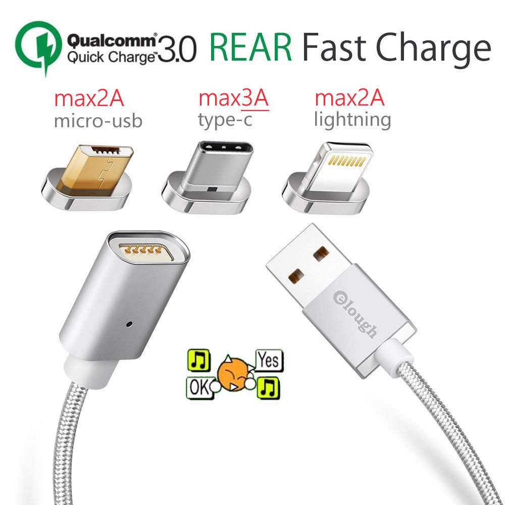 Quick Chrage 30 Multi 3 In 1 Universal Magnet Data Kabel Xiaomi Original Micro Usb Fast Charging Cable 33ft Lightning Ios Type C Magnetic For Android Cell Phone Iphone