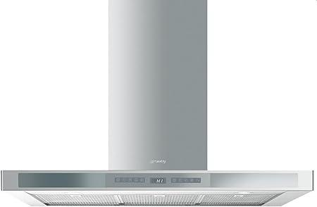 Smeg KS912XE De pared Acero inoxidable 534m³/h B - Campana (534 m³/h, Recirculación, B, A, C, 66 dB): Amazon.es: Hogar