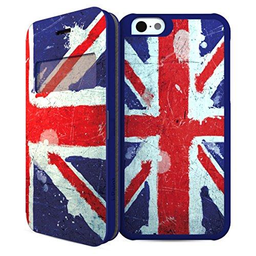 i-Paint-Case Schutzhülle für iPhone 6, Motiv: Union Jack, Blau