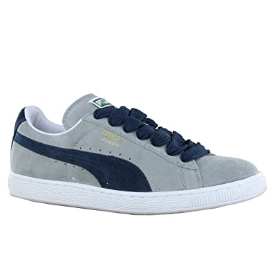 Puma Limestone Grey Midnight Navy Suede leather Mens Trainers Size 7 UK   Amazon.co.uk  Shoes   Bags 3e9abe578193