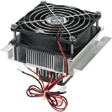 KKmoon DIY 熱電ペルチェ 冷凍器 放熱器 半導体冷却システムキット 冷却器 伝導モジュール ファン