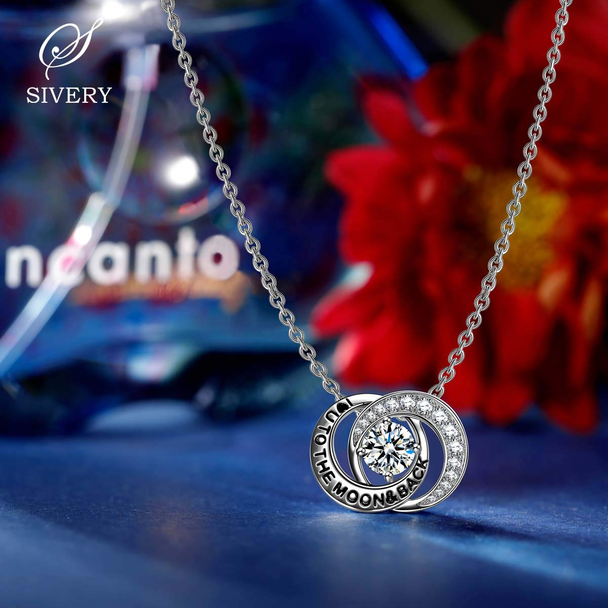 SIVERY Love Forever Necklaces for Women Hypoallergenic 925 Sterling Silver Necklace Pendant Gifts for Mom Jewelry for Women