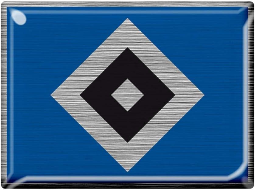 Hamburger Sv Hsv 3d Aufkleber Metallic Raute Sport Freizeit