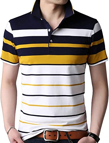 Camiseta De Rayas Amarillas Negras De Unico Los Hombres De Verano ...