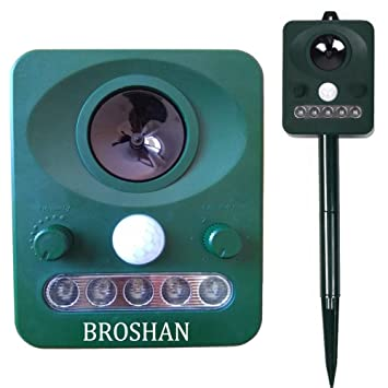 Potente Ahuyentador de animales Solar jardín ultrasónico Disuasión, electrónico ultrasónico con control para pájaros y