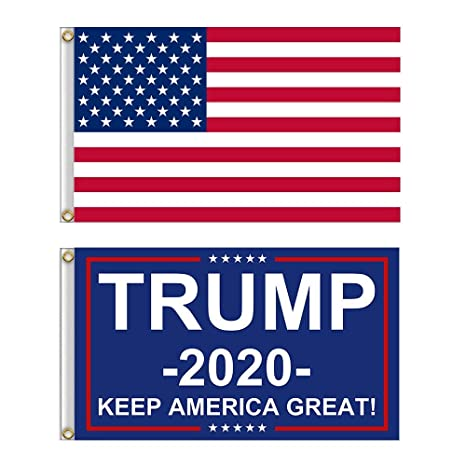 Trump Keep America Great 2020 Flag Flags 2 PACK 3x5 USA America American
