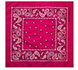 2ND DATE Classic Cotton Bandana - Assorted Styles and Colors-FUCHSIA-OS
