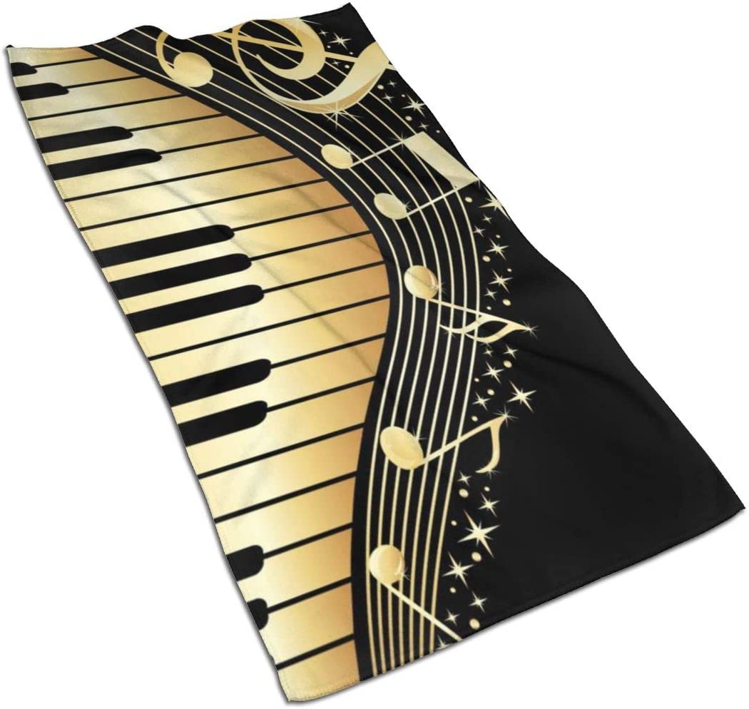 Music Note Piano Kitchen Towels ¨C 17.5X27.5in Microfiber Terry Dish Towels for Drying Dishes and Blotting Spills ¨CDish Towels for Your Kitchen Decor
