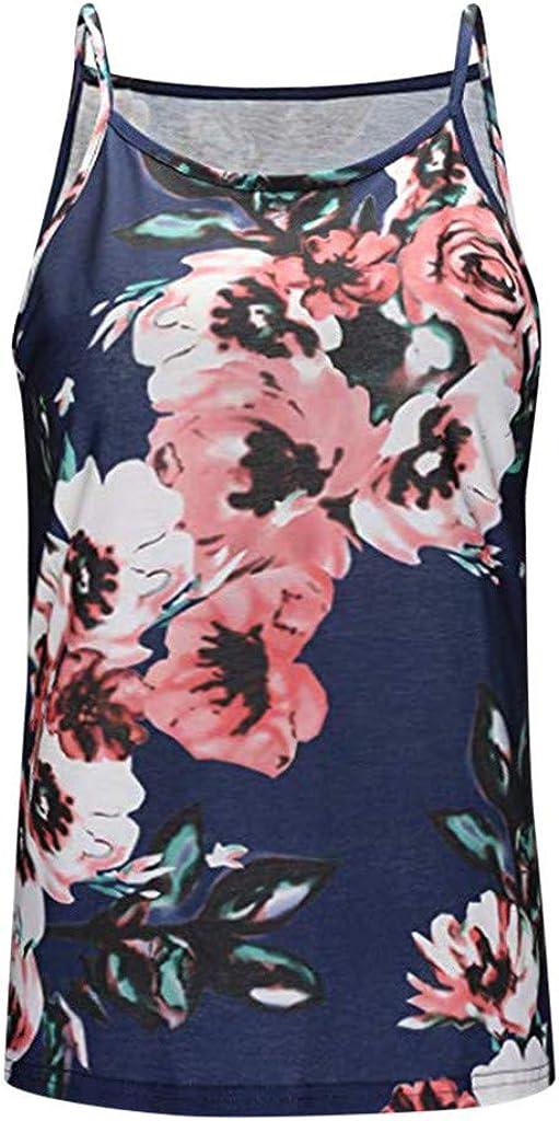 Auifor Camiseta sin Mangas con Estampado de Verano de Mujer Blusa ...