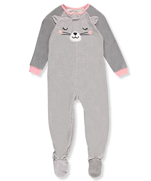 Amazon.com  Carter s Girls  12M-4T Cat Face Fleece Pajamas  Clothing 8c03e0d19