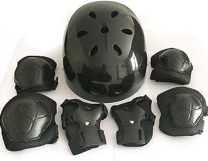 Herbalcandybox Kids Protective Gear Set with Wrist Guard Knee Pads Elbow Pads Helmet