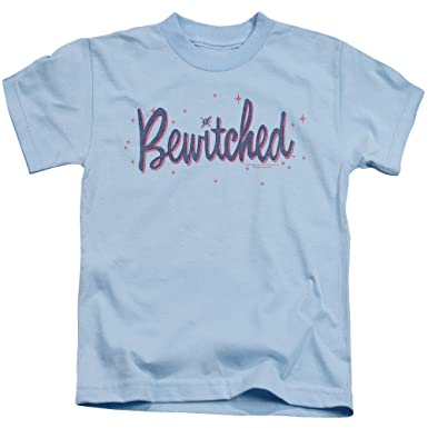 7504a890736dd ExpressBeyond Bewitched Retro Logo Small Cotton T-Shirt Light Blue Child  Boy s Girl s Short Sleeve