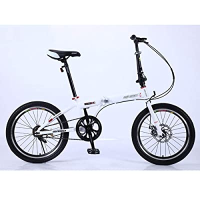 LINGS Foldable Bicycle Kids' Bikes Folding Bicycle Child Lightweight Adult Bicycle Ultra Light Portable Student Bicycle Single Speed Spoke Wheel 20 inch Suitable Height 165-190cm: Home & Kitchen