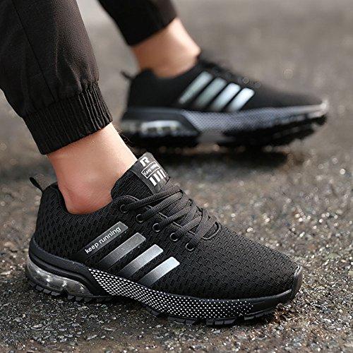 Negro Asfalto Zapatos En 1 Deportes Casuales Montaña Estilo Para Camo Libre Zapatillas De Running Aire Correr Wealsex Hombre Cojín qSXdTtwS