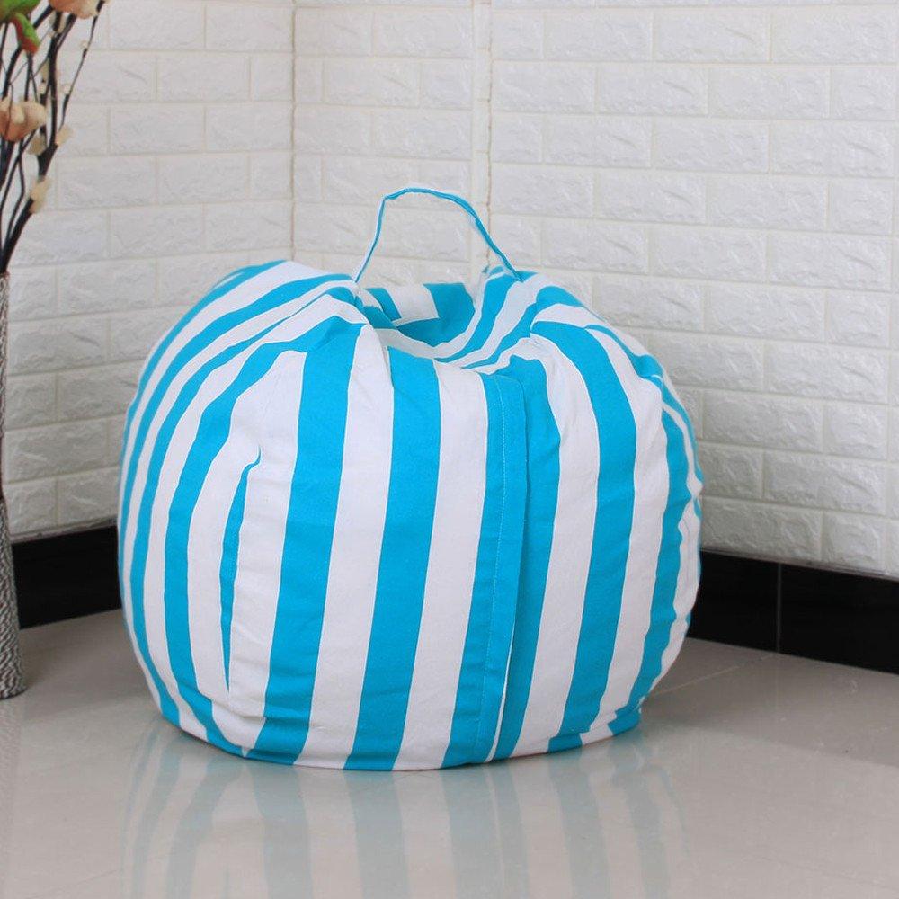 kingfansion Toy Storage Bag, Children's Large-Capacity Plush Animal Plush Toy Storage Bag Soft Bag Striped Cloth Chair by kingfansion (Image #4)