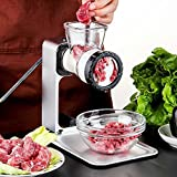 Manual Meat Grinder with Defrosting Tray, Aoonar Aluminium Alloy Garlic Crusher Nuts Chopper