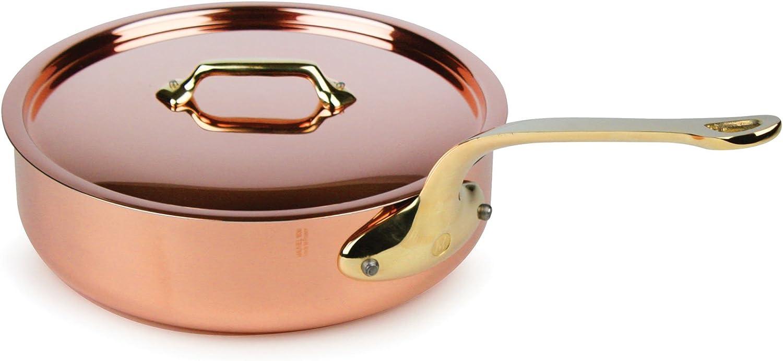 Mauviel France M150B 1.5mm Copper 3.5 Quart Saute Pan Bronze Handles NEW
