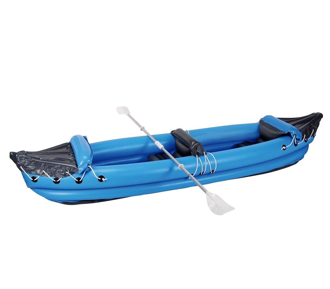Kayak hinchable biplaza (1 adulto + 1 niño) en varios colores 320x70cm - Azul
