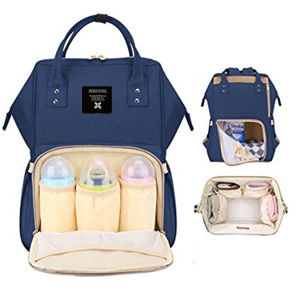 Glenmores Page Mochila Carro Bebe Pañales Bolso Maternal Mochilas para Mama Impermeable Grande Mochilas Viaje (azul)