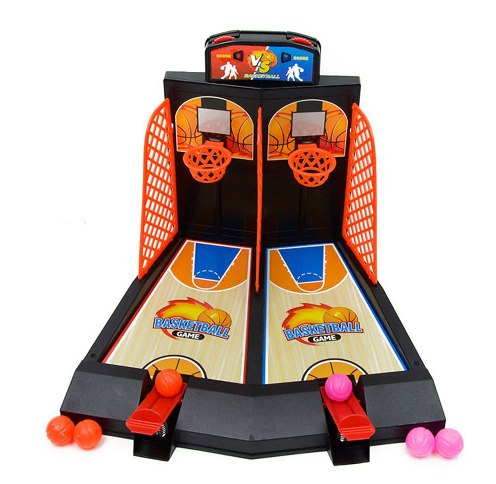 DALAZ Kids Ejection Toys Mini Plastic Basketball Shooting Games Catapult Shoot Basketball Intelligence Table Board Pinball Game For Kids by DALAZ