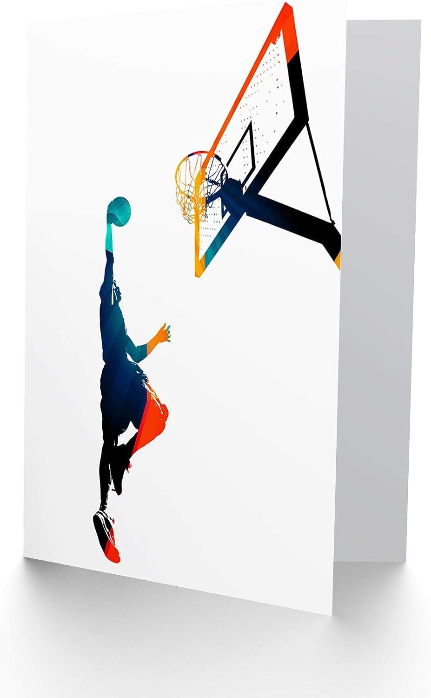 Basketball Slam Dunk Birthday Customised Card