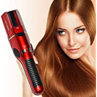 VelKro Split End Trimmer For Women Damaged Hair,Cordless Electric Automatic Micro USB Rechargeable Electric Dead Hairs Remover Hair Styling Tool (Red) - 1pc Color May Very