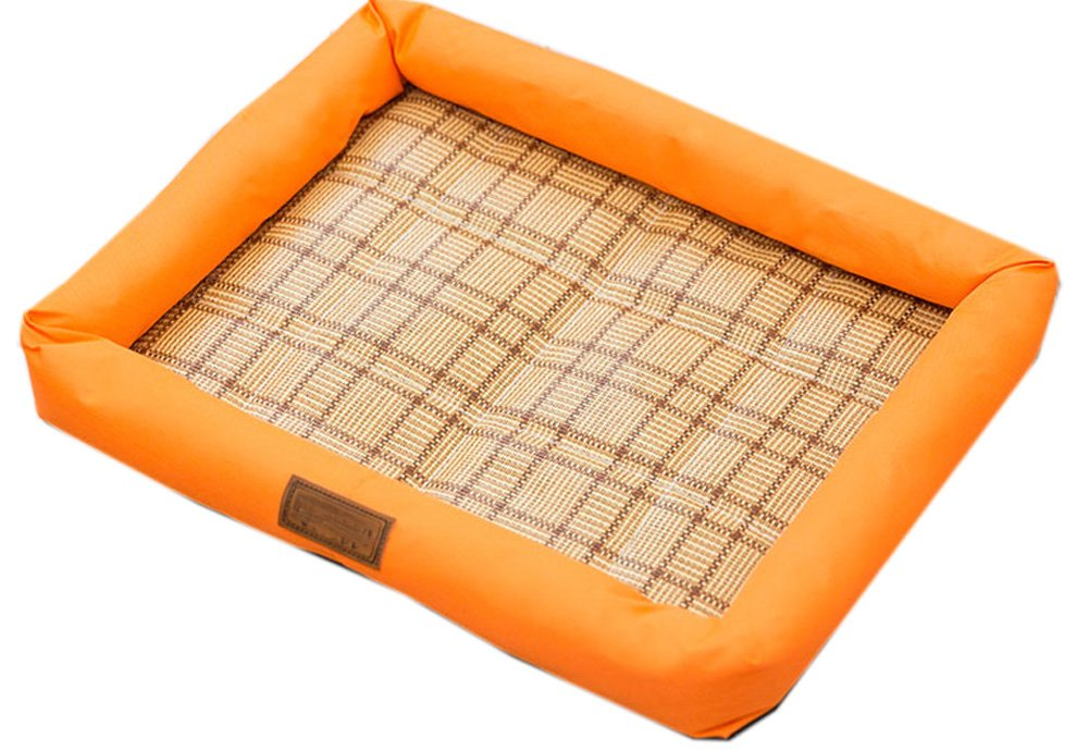 Fluffy Paws Pet Bed Crate Pad Premium Summer Bedding for Dogs & Cats ,orange
