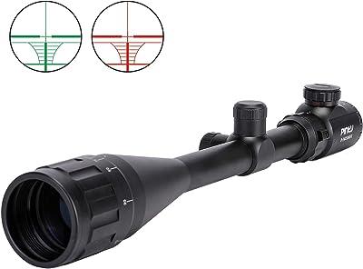 Pinty 6-24x50 AO Rifle Scope Rangefinder Illuminated Optics with Free Mount