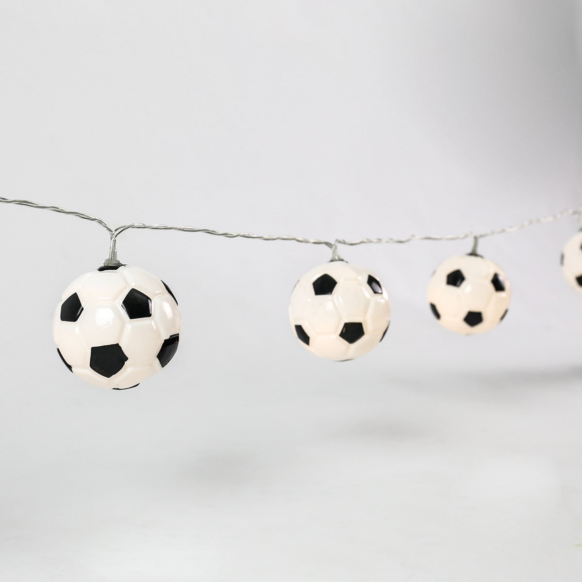 Football Fairy Lights - 10 LEDs - Warm White - Battery Operated - Timer by Festive Lights BL054