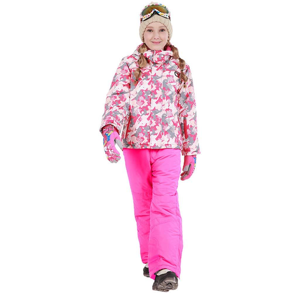 Snowsuits per Bambini Giacca da Sci Sci Sci con Cappuccio da Sci con Tuta da Snowsuit, Impermeabile e Impermeabile, con 2 Pantaloni Caldo (Coloreee   rosa, Dimensione   158 164)B07L4947PH146 152 rosa | Più economico  | On-line  | Di Alta Qualità E Low Overhead ae28ce