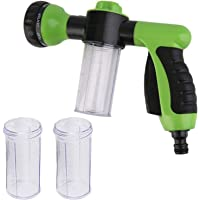 TRIXES Garden Hose Attachment with 3PC 10ml Reservoir - 8 Mode Spray Gun Nozzle - 3 Mixing Configurations - for Mixing Soap or Fertiliser - Plant Feeding - Car Cleaning
