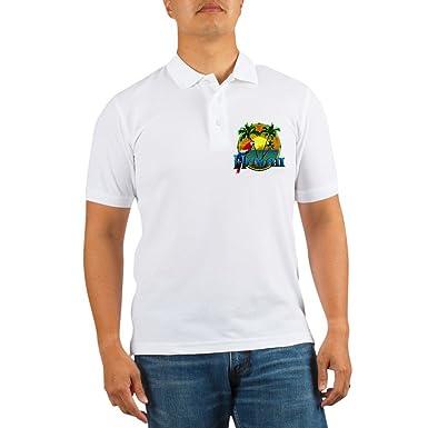 183197f7 CafePress - Hawaiian Sunset - Golf Shirt, Pique Knit Golf Polo White