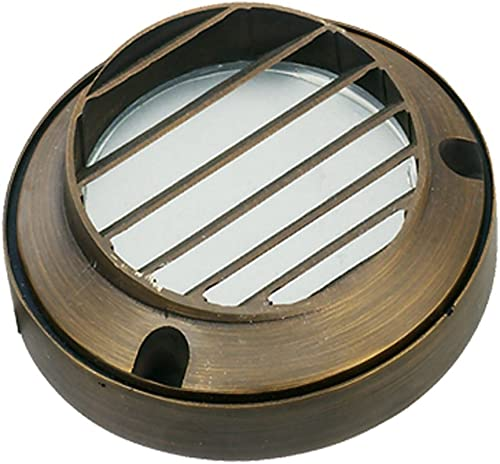 Best Quality Lighting LV51AB Finished Outdoor Step Light with Clear Glass Shade, Bronze
