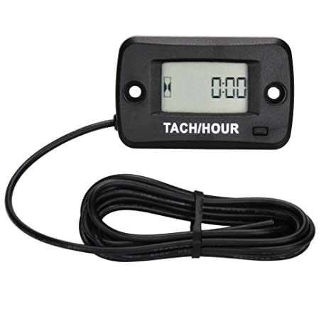 Amazon com : SEARON Lawn mowers Tachometer Hour Meter Tach Max RPM