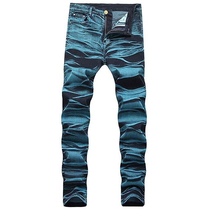 Amazon.com: LETMAYPEO pantalones vaqueros delgados con ...