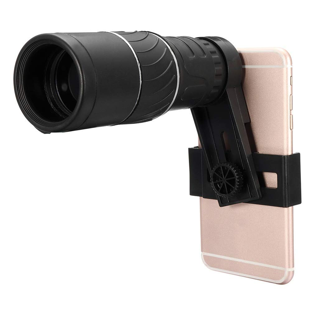 16 Times Zoom Hiking Monocular Telescope Lens Camera HD Scope Hunting +Phone Holder with Clear Image for Oudoor Activities