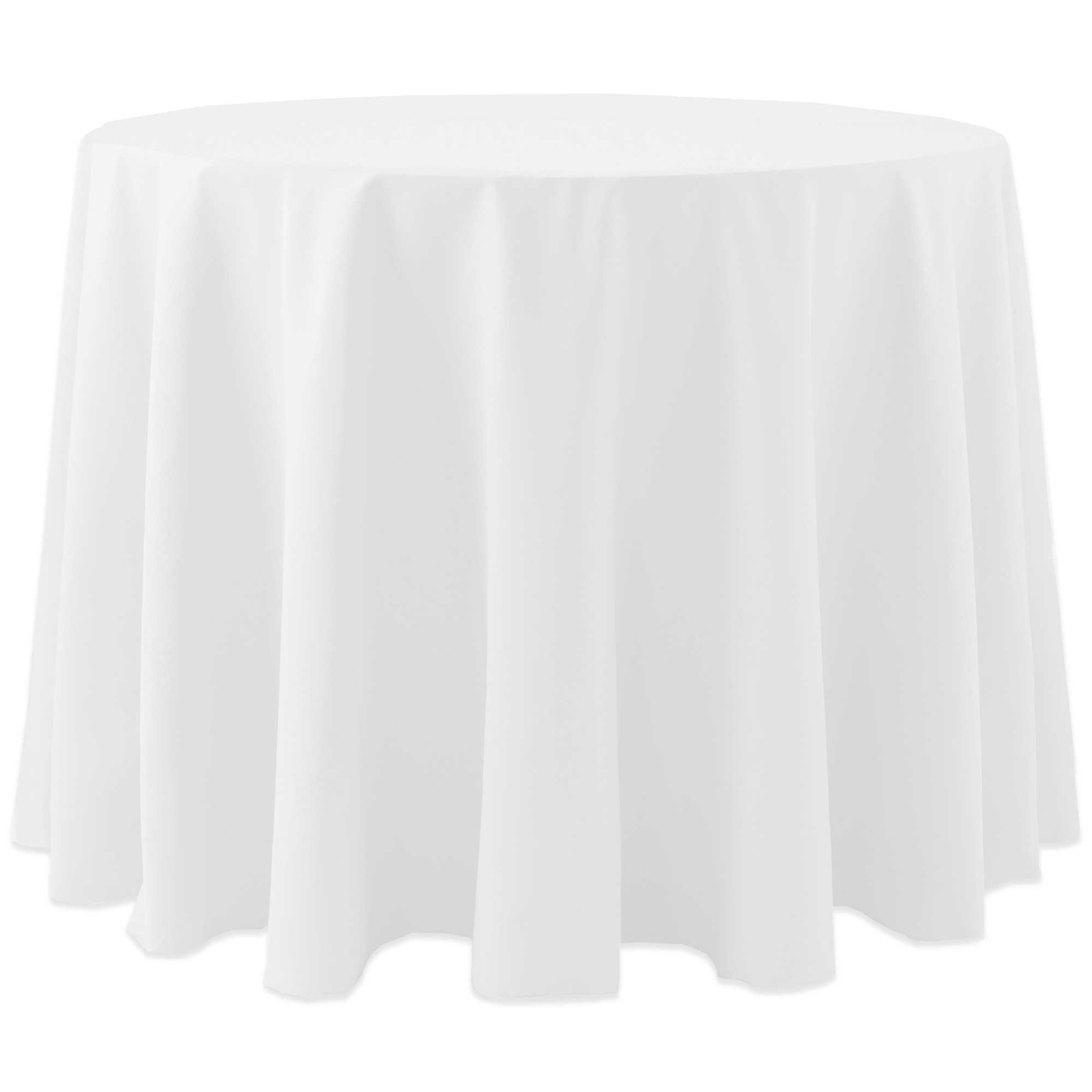 Ultimate Textile (10 Pack) Cotton-feel Spun Polyester 90-Inch Round Tablecloth - for Wedding and Banquet, Hotel or Home Fine Dining use, White