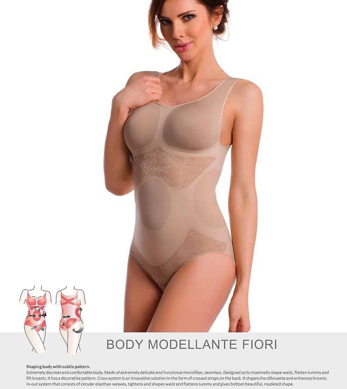 made in Italy senza cuciture TESPOL Body modellante da donna di alta qualit/à