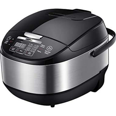 COMFEE' MB-FS5077 Japanese, Professional 17-in-1 Multi Cooker, Rice Warmer with Food Steamer, Stainless Steel Inner Pot, 5L 20 Cups,