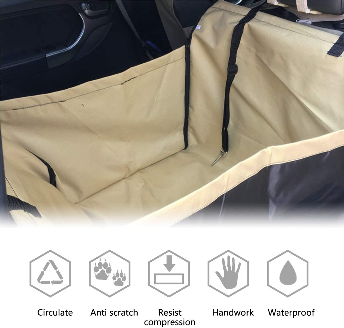 PETCUTE Car seat cover dog Rear Seat Covers for Dogs Dog Car Seat Cover dog car seat Car Hammock
